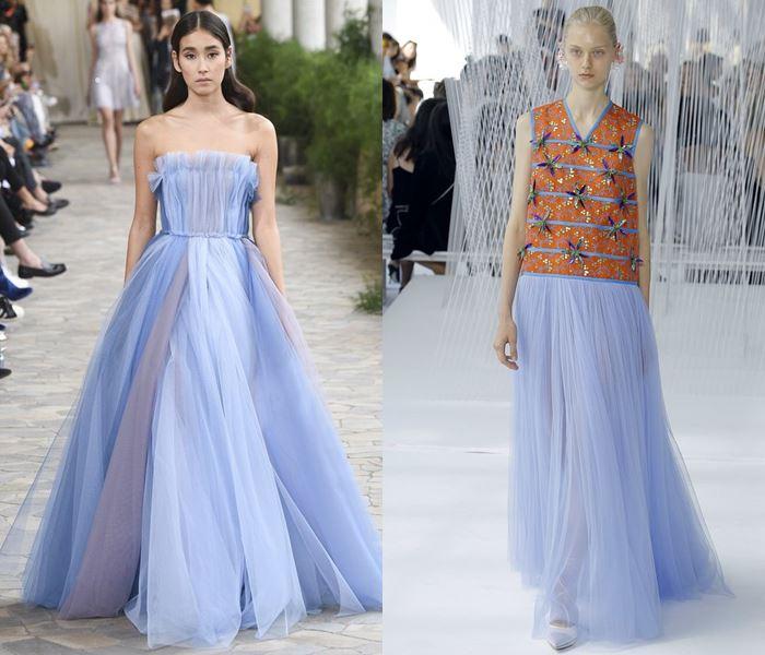Тенденции моды весна-лето 2017: голубые тюлевые юбки и платья