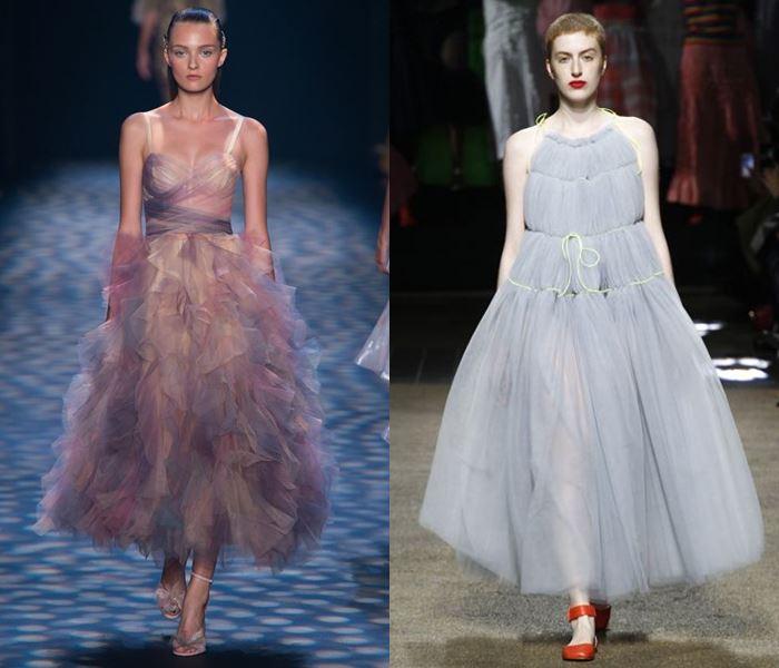 Тенденции моды весна-лето 2017: пышные платья из тюля