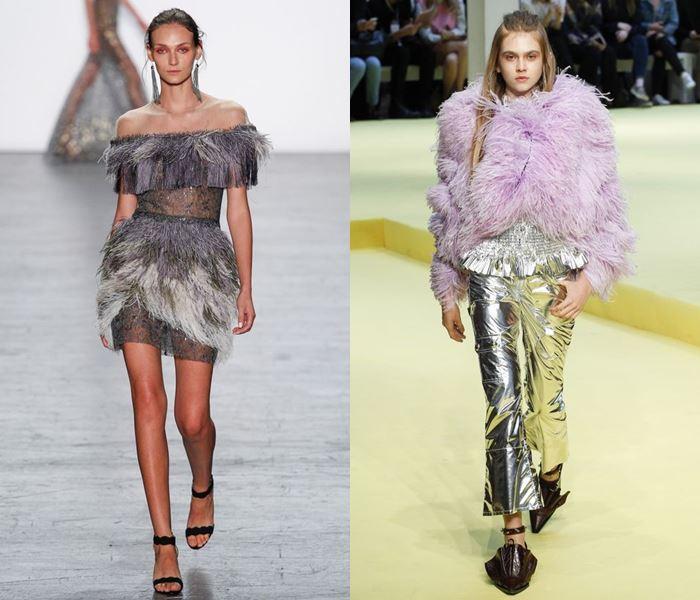Тенденции моды весна-лето 2017: платья и куртки с перьями