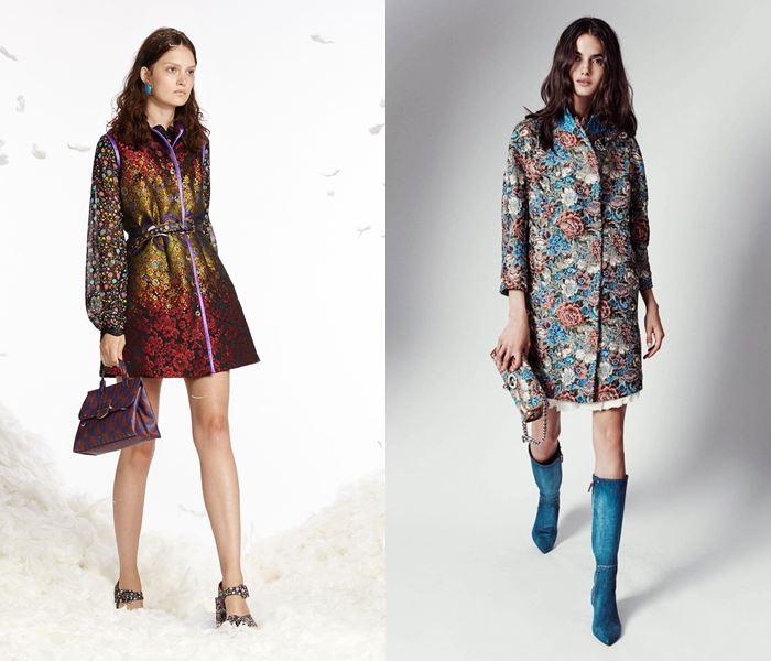 Тенденции моды весна-лето 2017: пальто из парчи