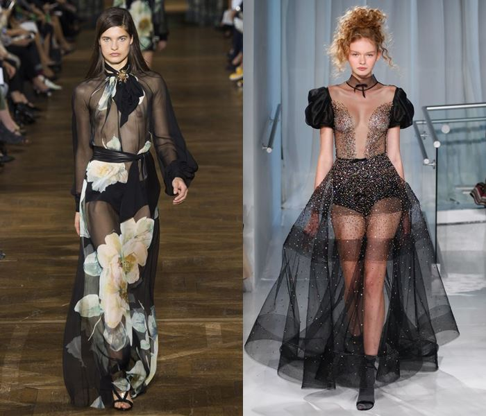 Тенденции моды весна-лето 2017: прозрачные ткани