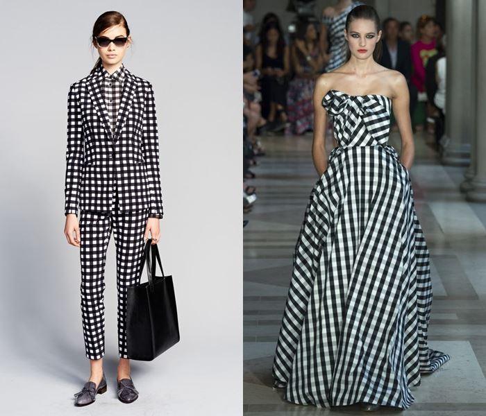 Тенденции моды весна-лето 2017: чёрно-белая мелкая клетка
