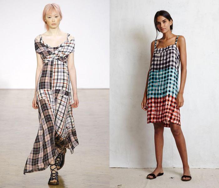 Тенденции моды весна-лето 2017: клетчатые платья
