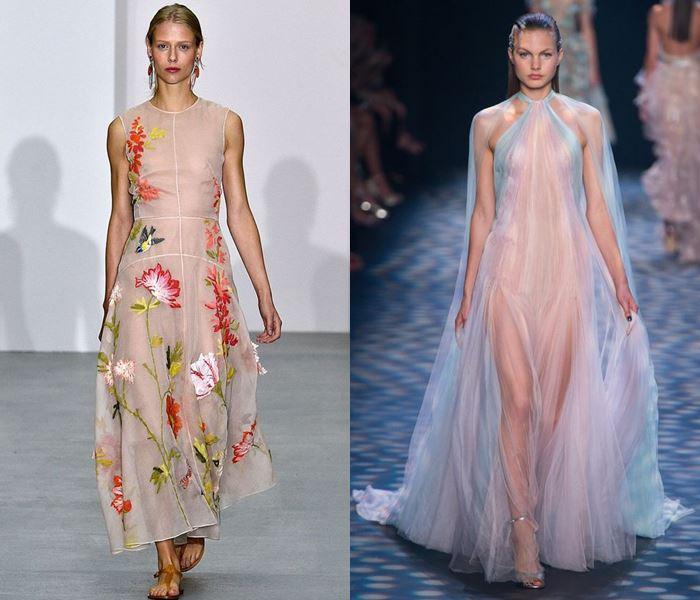 Тенденции моды весна-лето 2017: просвечивающиеся платья