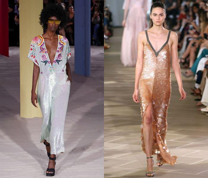 Тенденции моды весна-лето 2017: блестящие платья с пайетками