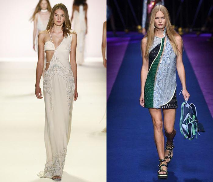 Тенденции моды весна-лето 2017: асимметричные платья