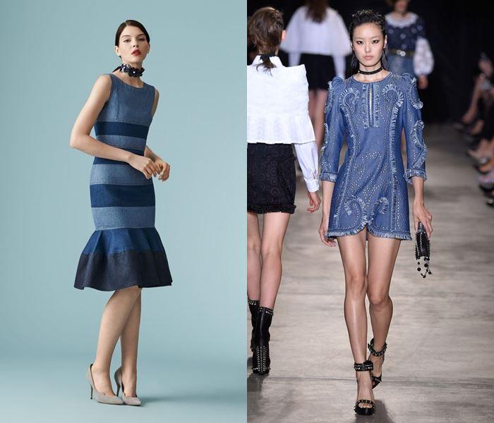 Тенденции моды весна-лето 2017: джинсовые платья