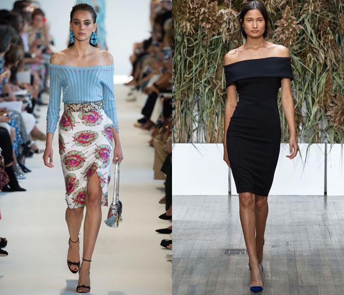 Тенденции моды весна-лето 2017: открытые плечи