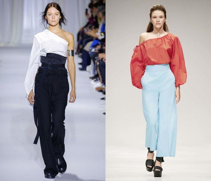 Тенденции моды весна-лето 2017: блузки на одно плечо