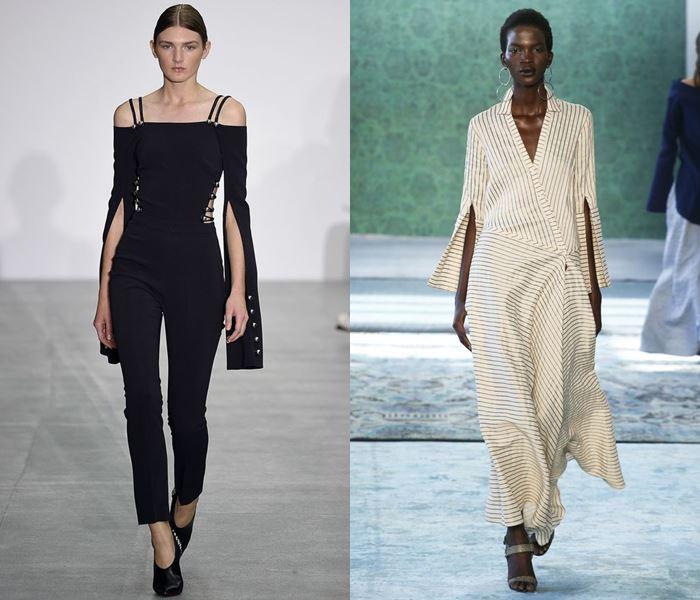 Тенденции моды весна-лето 2017: разрезы на рукавах
