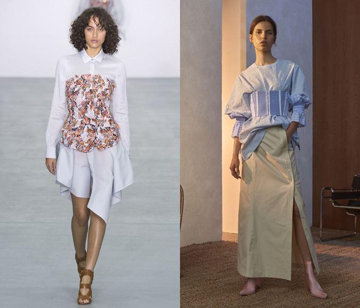 Тенденции моды весна-лето 2017: корсеты сверху