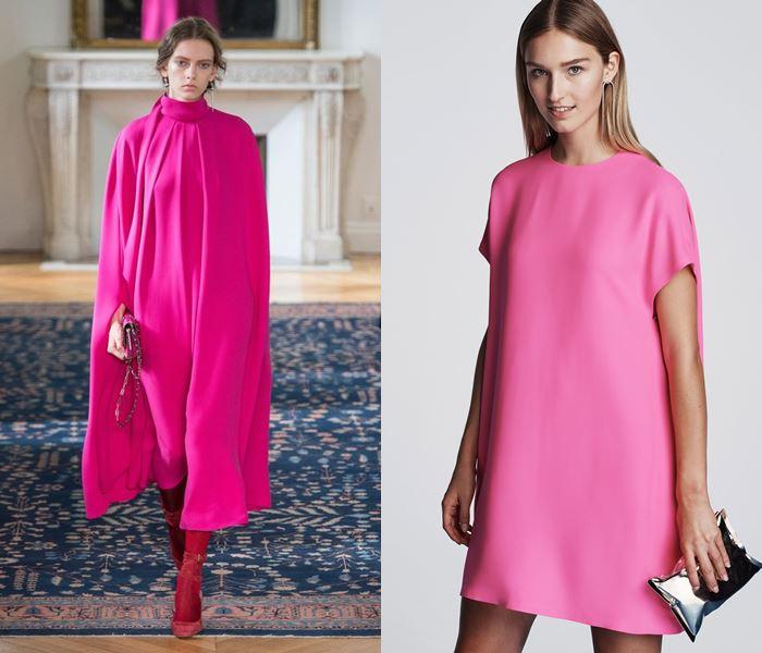 Тенденции моды весна-лето 2017: ярко-розовые платья