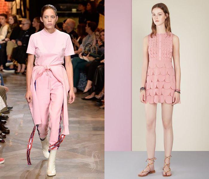 Тенденции моды весна-лето 2017: пастельно-розовые платья