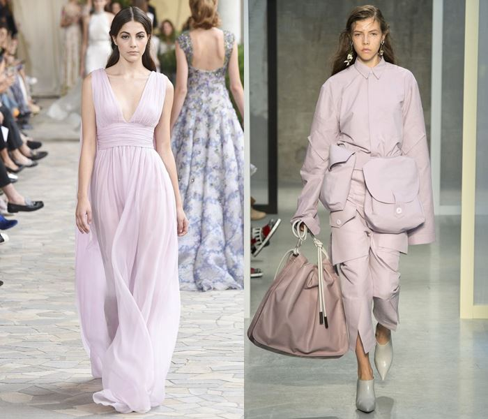 Тенденции моды весна-лето 2017: бледно-розовые платья