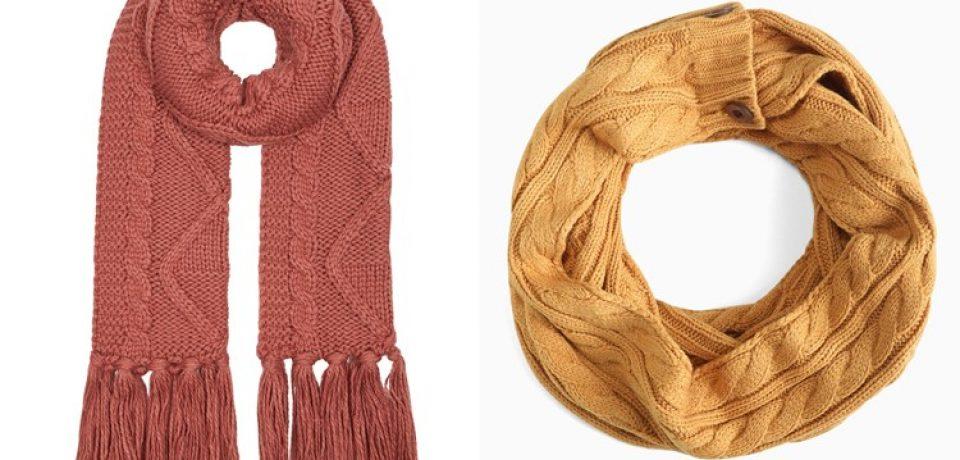Вязаные шарфы 2017