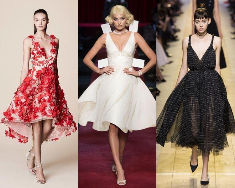 Фасоны и стили платьев 2017: приталенные вечерние пышные