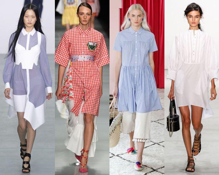 Фасоны и стили платьев 2017: повседневные рубашечного кроя