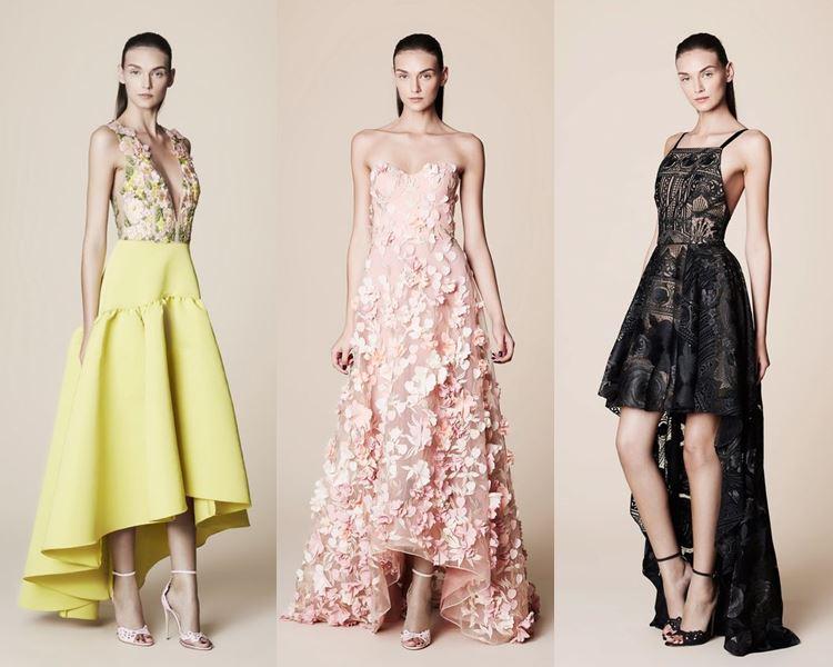 Фасоны и стили платьев 2017: модели хай лоу или маллет