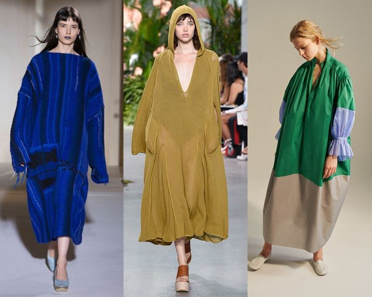 Фасоны и стили платьев 2017: объёмные оверсайз