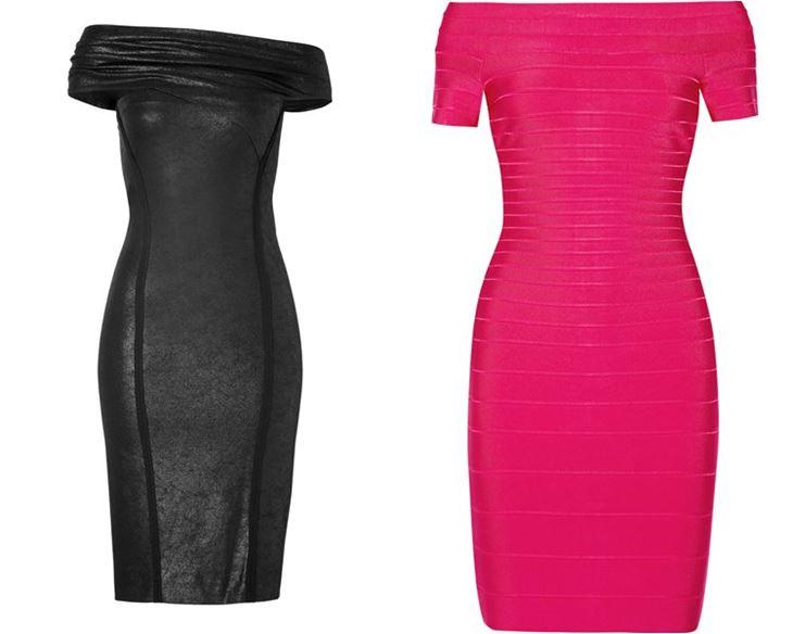 Модные коктейльные платья 2017: облегающие с открытыми плечами