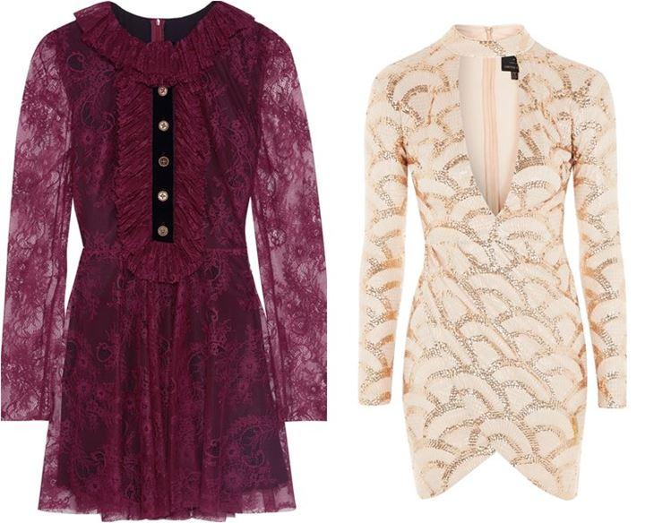 Модные коктейльные платья 2017: кружевные с длинным рукавом