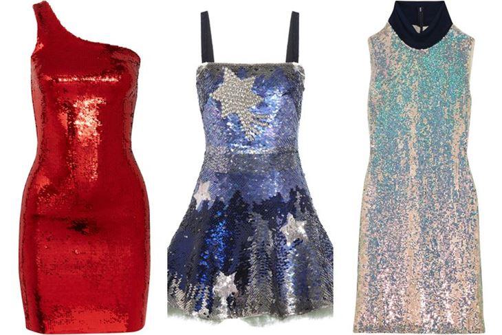 Модные коктейльные платья 2017: цветные с пайетками