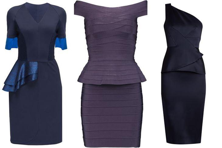 Модные коктейльные платья 2017: элегантные с баской