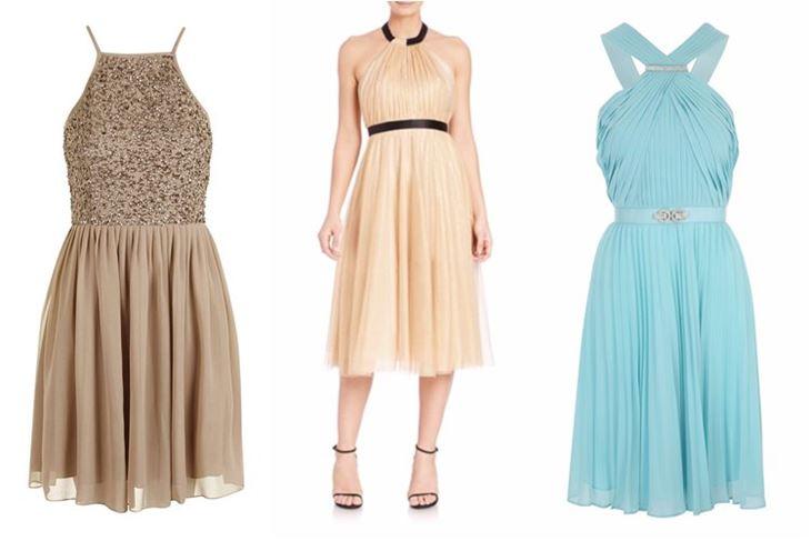 Модные коктейльные платья 2017: греческие плиссированные