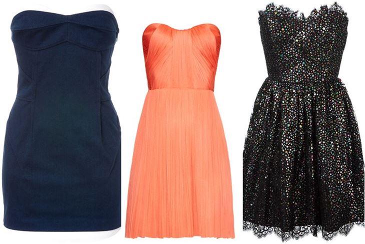 Модные коктейльные платья 2017: короткие мини бюстье