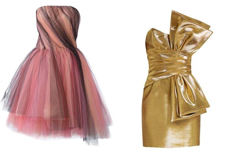 Модные коктейльные платья 2017: супермини бюстье