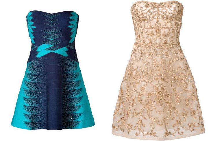 Модные коктейльные платья 2017: бюстье приталенные