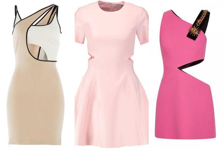 Модные коктейльные платья 2017: вырезы на талии