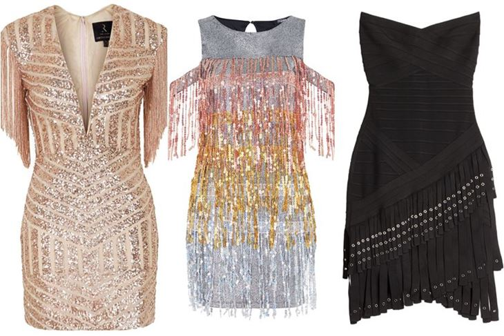 Модные коктейльные платья 2017: с бахромой