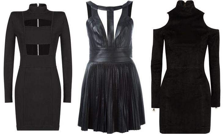 Модные коктейльные платья 2017: чёрные с вырезами