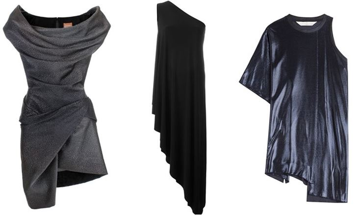 Модные коктейльные платья 2017: асимметричные