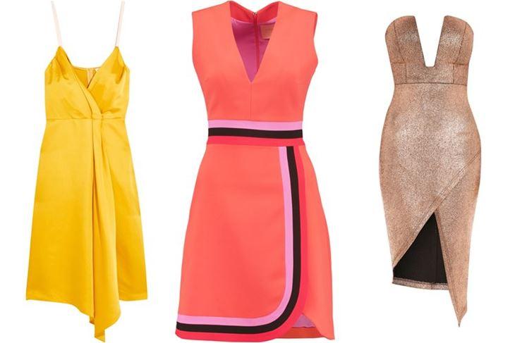 Модные коктейльные платья 2017: с запахом