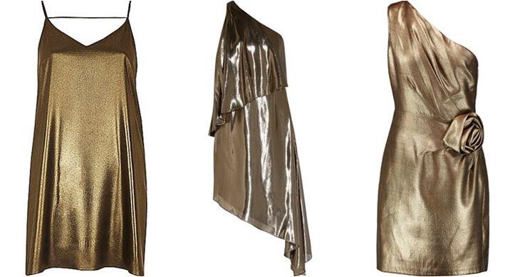 Модные коктейльные платья 2017: жидкое золото