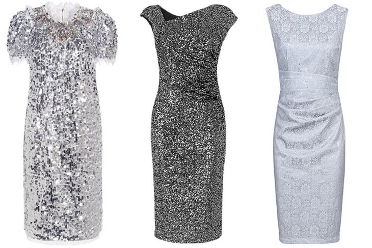 Модные коктейльные платья 2017: мерцающие серебристые