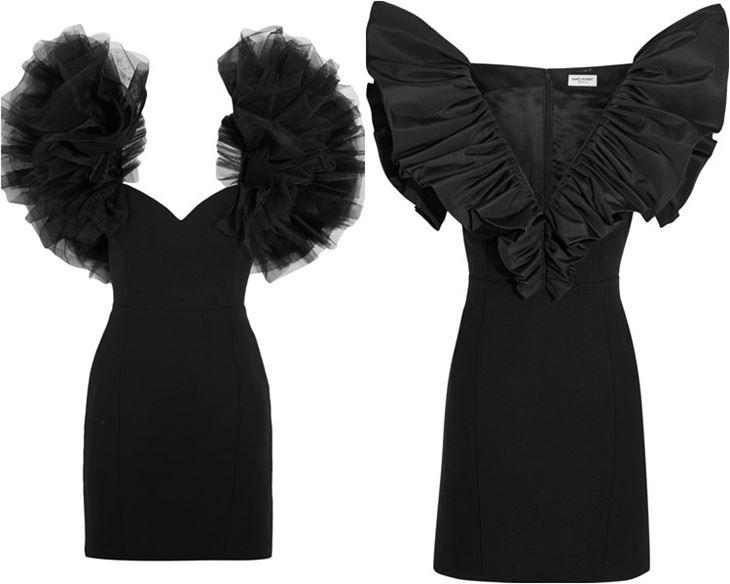 Модные коктейльные платья 2017: чёрные в стиле 80-х
