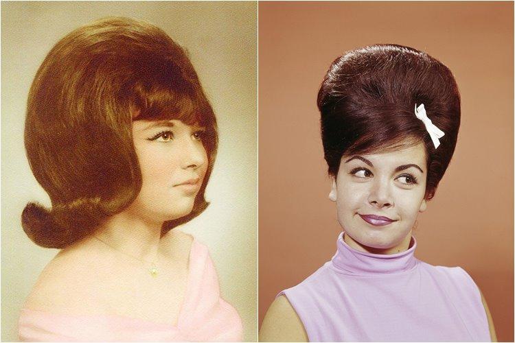 прически стиля 70х годов фото