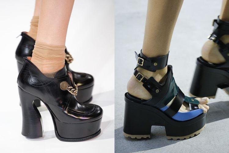 Модная женская обувь весна-лето 2017: высокая платформа