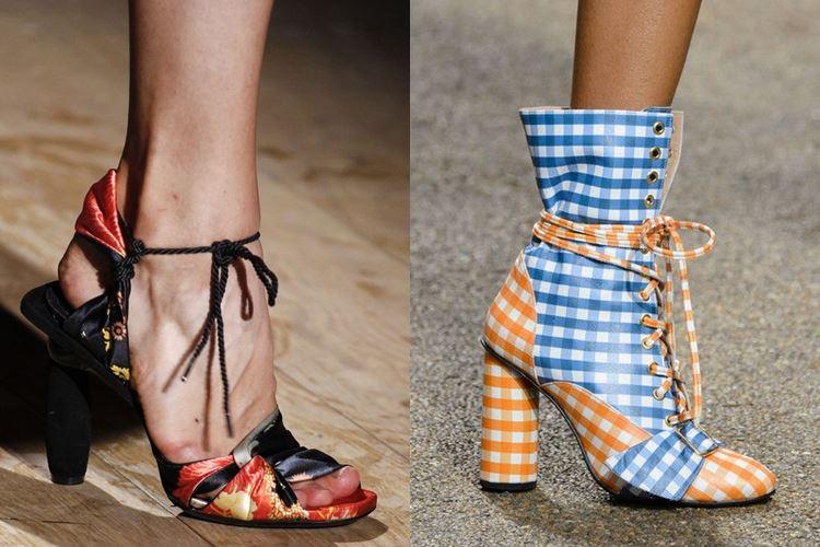 Модная женская обувь весна-лето 2017: завязки на щиколотке