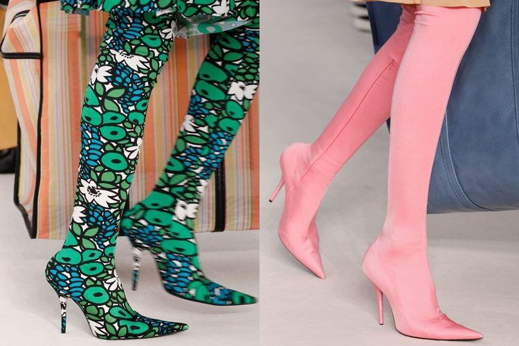 Модная женская обувь весна-лето 2017: сапоги чулки