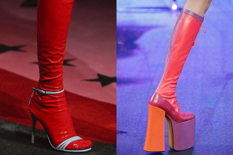 Модная женская обувь весна-лето 2017: облегающие сапоги