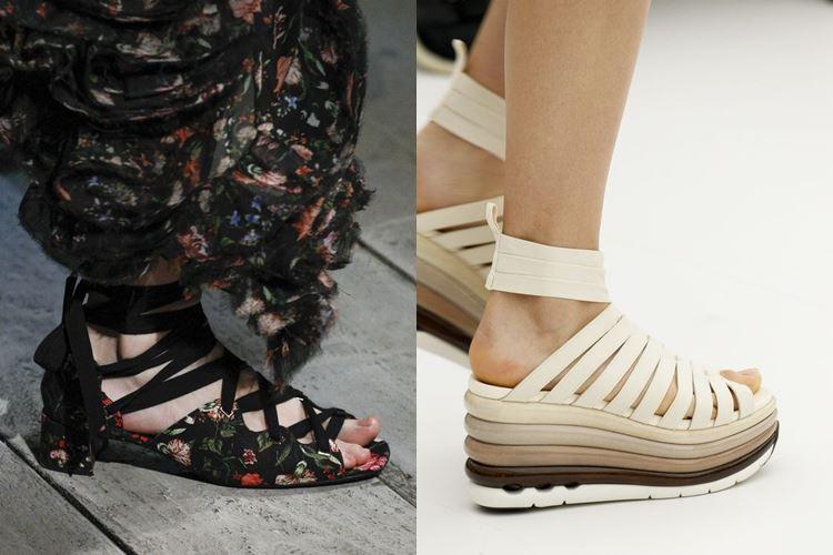 Модная женская обувь весна-лето 2017:  ремешки и перевязки