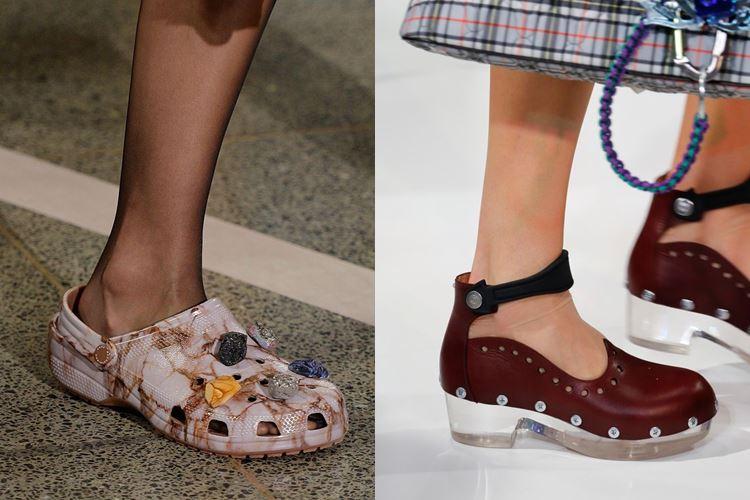 Модная женская обувь весна-лето 2017: кроксы