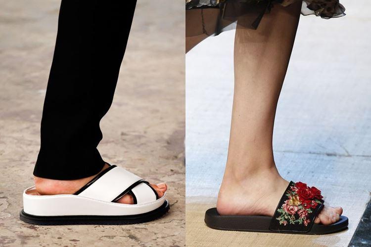 Модная женская обувь весна-лето 2017: шлепанцы