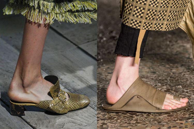 Модная женская обувь весна-лето 2017: шлепки без задника