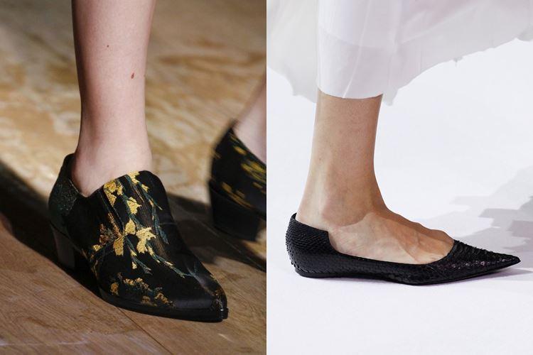 Модная женская обувь весна-лето 2017: плоские остроносые