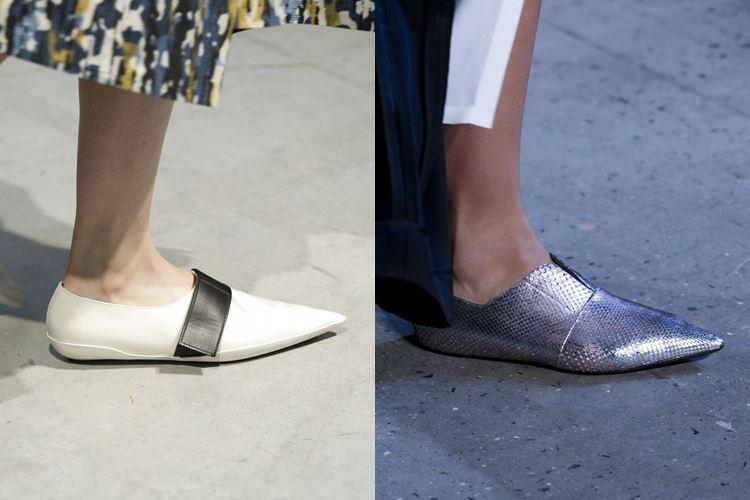 Модная женская обувь весна-лето 2017: плоские с острым мыском